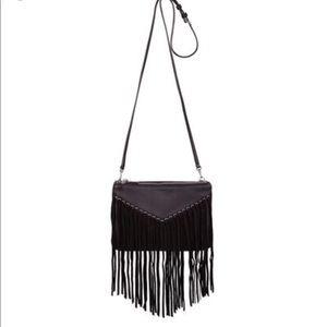 Sandro Bags - SANDRO black fringe bag